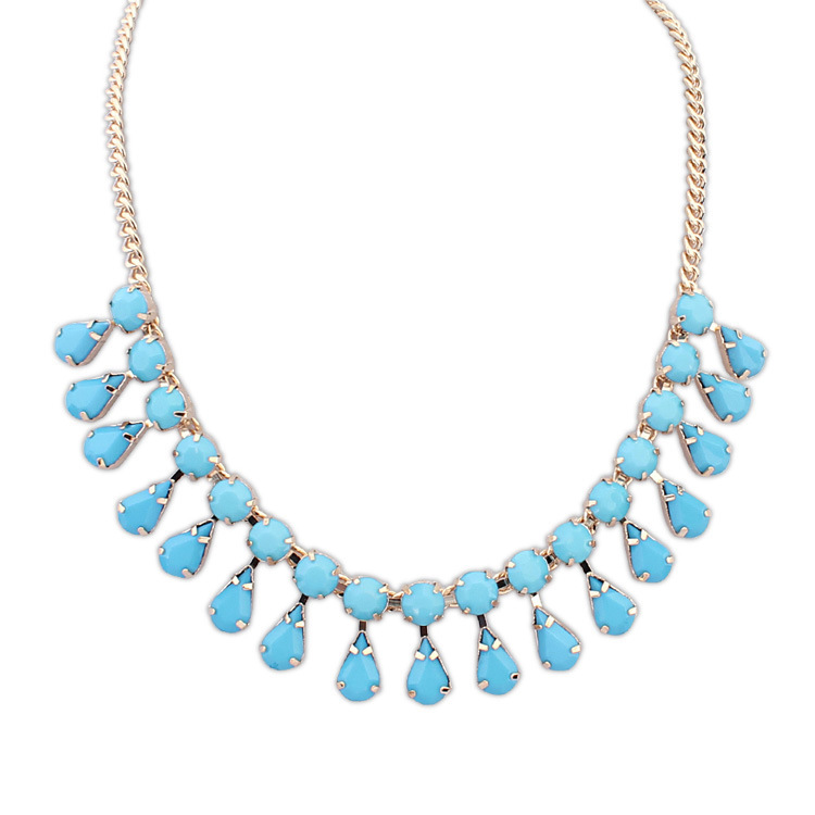 2016 Collares Collier Kill Jewelry Temperament Ruili Wild Water Droplets Necklace Welcome Global Buyers To Join The Purchasing(China (Mainland))