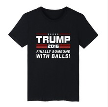 Donald Trump T Shirt USA Presidential Election Campaign Vote Republican Candidate Tops Tees Men Women 100% Cotton O Neck T-Shirt(China (Mainland))