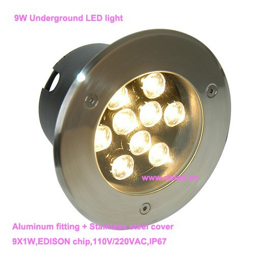 Free shipping by DHL !! CE,IP67,high power 6W LED floor light,LED recessed light,D150mm,DS-11C-D150-9W,110-250VAC,12V DC(China (Mainland))