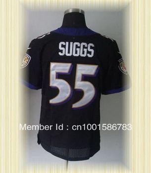 Arrived New Baltimore Football Jerseys 55 Terrell Suggs Purple Black White Elite Jerseys