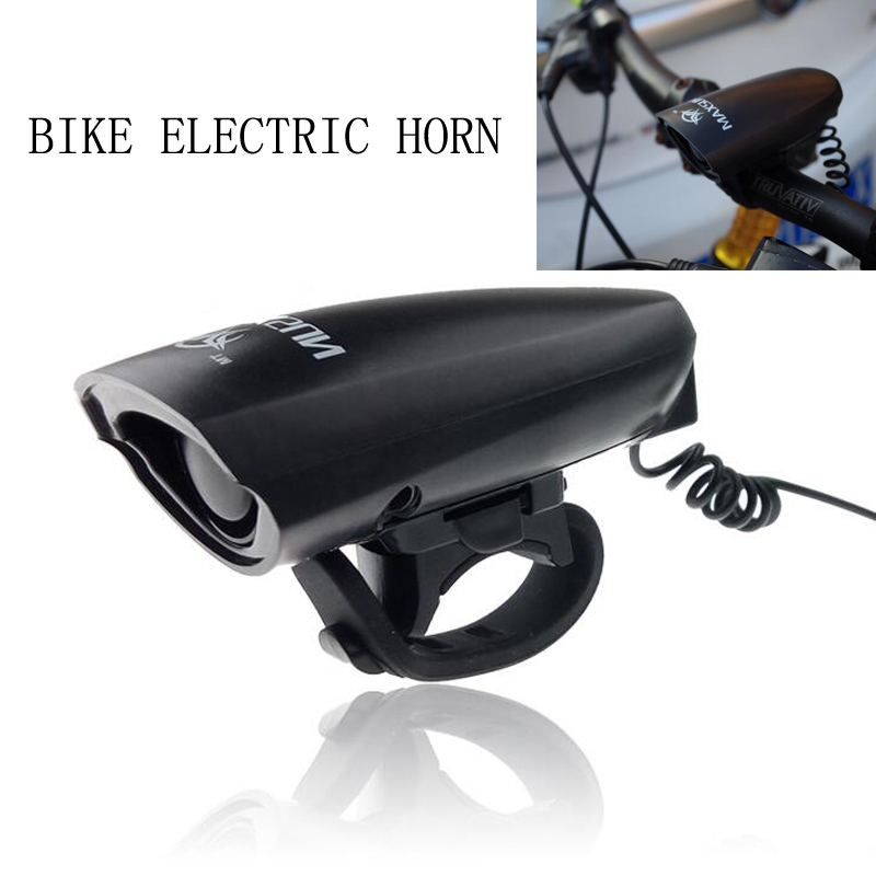 New Electric Horn Bicycle Bells Double Mode Tony Treble Horn MTB Road Bike Horn Plastic Black Cycling Bells Bicycle Accessories(China (Mainland))