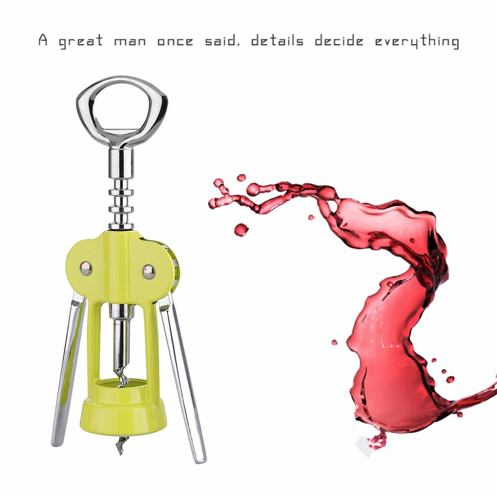 OUTU Green Stainless Steel Metal Wine Corkscrew Multifunctional Creative Rotary Cap Cover Champagne Beer Red Wine Bottle Opener(China (Mainland))