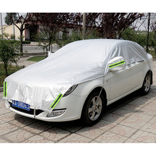 Customizable! Universal Aluminum Waterproof Seamless Sunshade Car Cover Half Covers Protection for Saloon, Hatchback, SUV(China (Mainland))