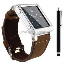 Pelle sintetica cinturino da polso cinturino relojes correa caso della copertura w/touch penna dello stilo per ipod nano gen 6 6g mp4 6a generazione  (China (Mainland))