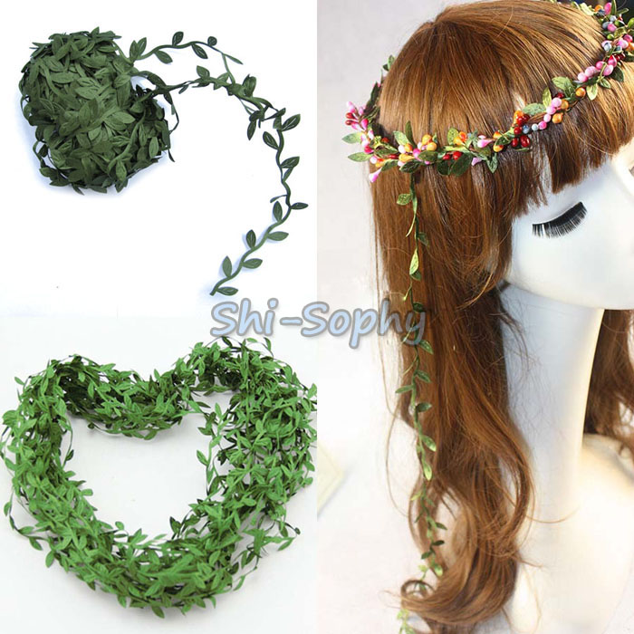20m Long Artificial Green Leaves Rattan Plant Garland Home Office DIY Wedding Decor(China (Mainland))