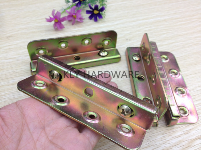 Bed Fitting Hardware,Bed Corners,	bed rail fasteners, bed hinges(set of 4)
