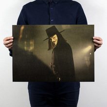 Buy Vintage Paper Retro anime poster V Vendetta -Posters/kid cudi poster/Vintage Home Wall sticker Decor 51*35.5cm for $1.14 in AliExpress store