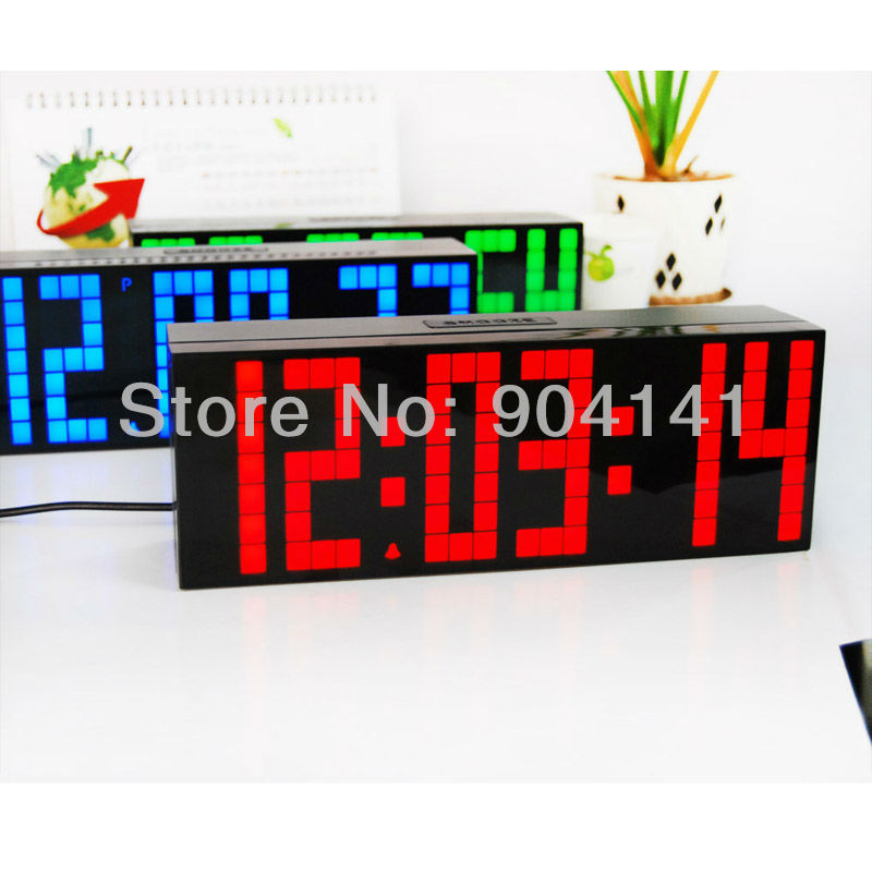 LED Large Number Remote Control Alarm Wall Table Clocks Multi-Function Snooze Calendar Temperature - Chihai Electronic Co., Ltd store