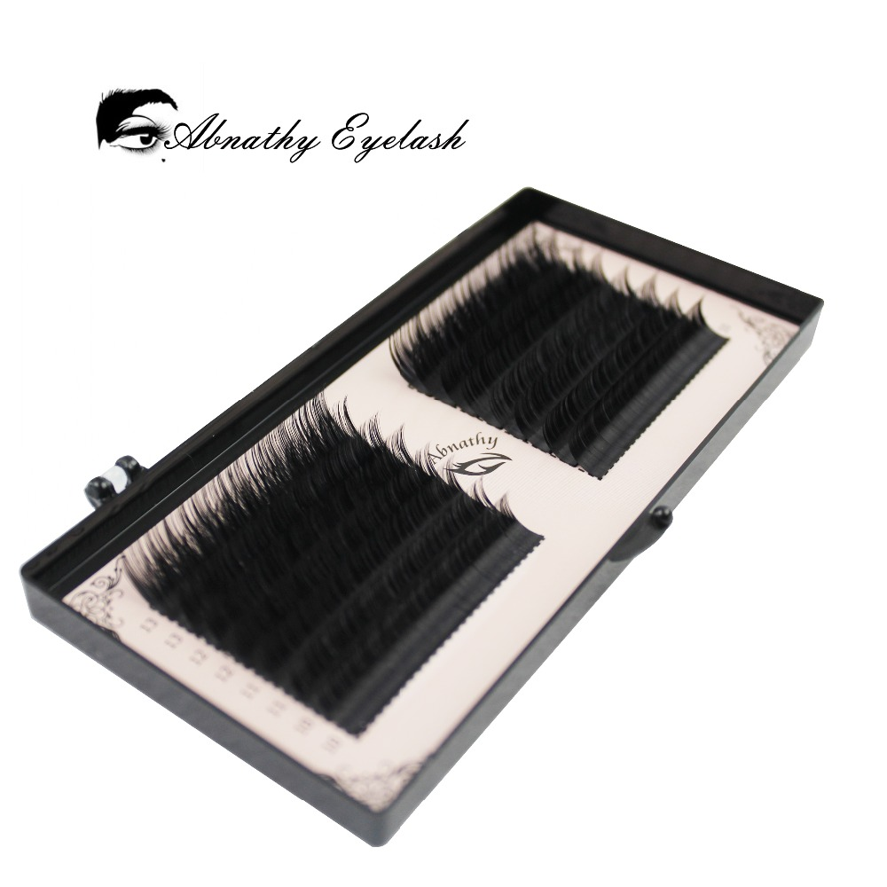 16 lines 0.05/0.07/0.10/0.015 Volume Eyelash Extension False Mink eyelash Mixed Lengths One Strip Fancy Packing