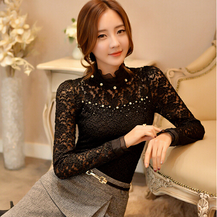 Lace Ruffle Blouse Lace Women Blouse Ruffled