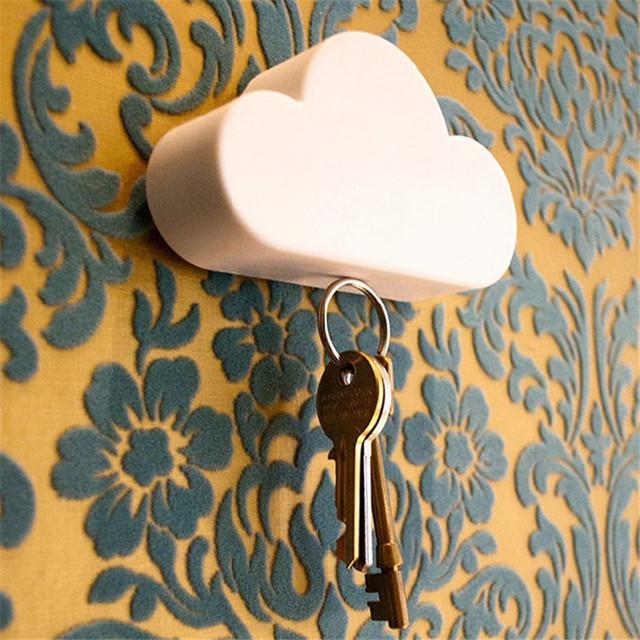 Мода стиль Творческий Дом Хранение Держатель Белое Облако Форма Магнитные Магниты Key Holder #20 2016 Подарок 1 шт.