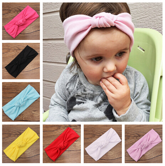 newborn baby girl big cotton turbante fabric elastic for hair band head bands turban knot headwear baby headband accessories(China (Mainland))
