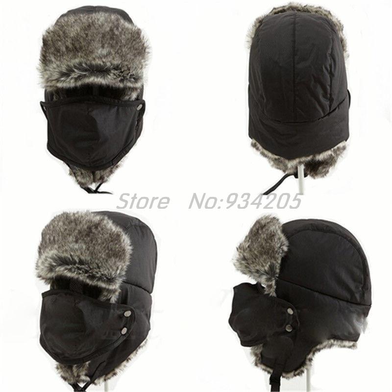 New 2016 Winter Warm Earflap Bomber Hats Adult Fur Lined Trapper Men Russian Cossack Aviator Earflap Snow Ski Cap(China (Mainland))