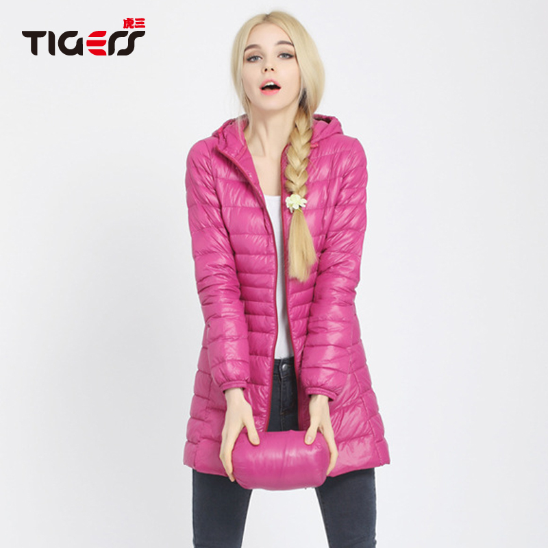 2015 New Winter Jacket Women Hooded Long Section Linght And Warm Female Coat Casual 90% White Duck Down Parka With Cap S-3XL(China (Mainland))