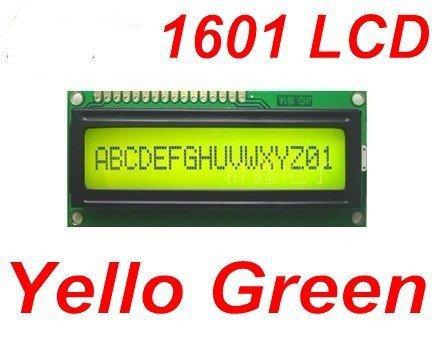 10pcs Yellow Green 1601 16X1 Character LCD Display Module / LCM SPLC780D STN(China (Mainland))