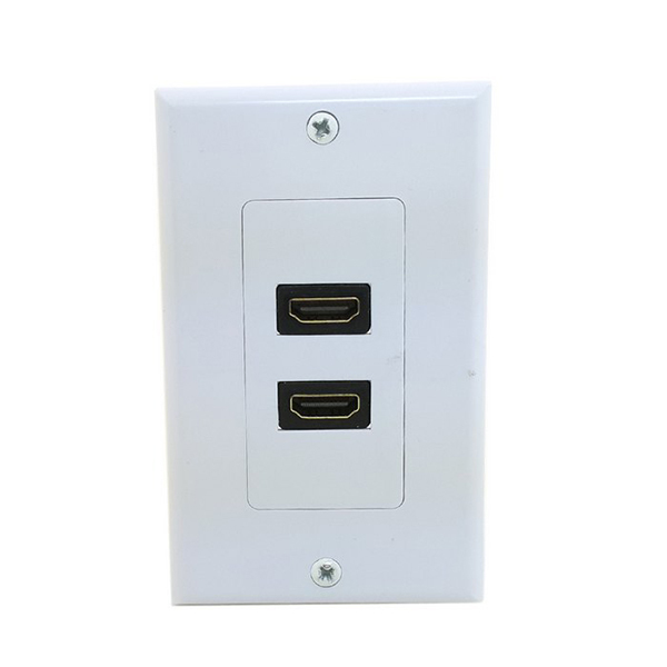 Dual Ports HDMI Panel Wall Outlet Cover Face Plate Cable Coupler Extension A1640(China (Mainland))