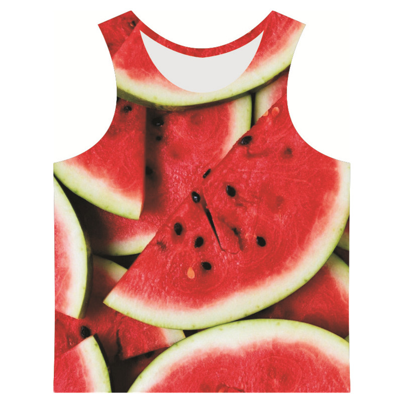 Brand clothing Men's 3D funny Fruit and snacks style gym clothing summer personality tank tops clothing(China (Mainland))