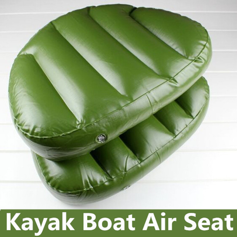 Instock Outdoor Camping Water Sports Boat Seat Inflatable Cushion 46*33*10cm Inflatable Alumnium Fishing Boat Kayak Rowing(China (Mainland))