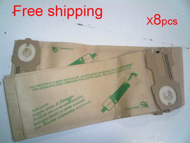 8 pcs/lot hoover robot vacuum cleaner parts Dust Bags for VK118 VK119 VK120 VK121 VK122 Paper bag garbage bags Free shipping(China (Mainland))