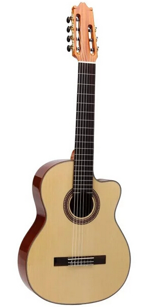 7 string classic guitar with free hard case(China (Mainland))