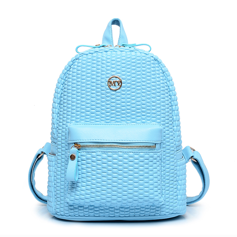 2015 new fashionable Women leather  Backpacks Student softback daily school bag  shoulder bags casual travel backpack 5 colors
