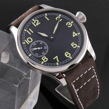 parnis 44mm seagull 3600 unitas 6497 manual hand winding mens watch