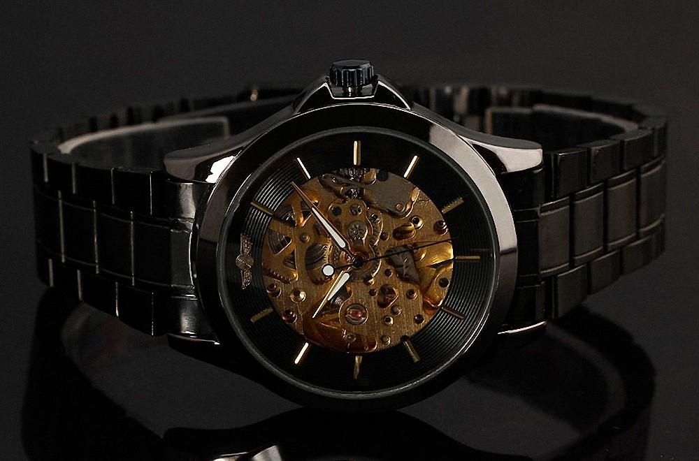 ПОБЕДИТЕЛЬ Благородный Fromal Бизнес мужская Механические Наручные Часы Ретро Классический Скелет Дизайн Золотой Движение С Коробкой
