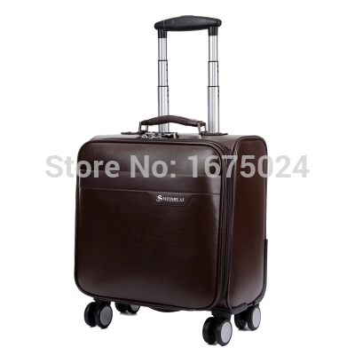 delsey spinner men pu set of check in tag female suitcase id case vintage travel bag universal wheels rolling luggage trolley(China (Mainland))