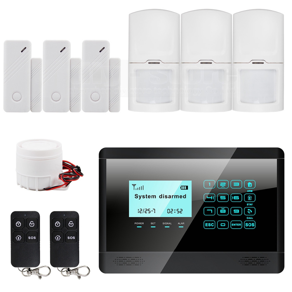 Touch Keypad Wireless GSM SMS TEXT Auto dial Smart Home Security Alarm System LCD 850/900/1800/1900MHz M2BX(China (Mainland))