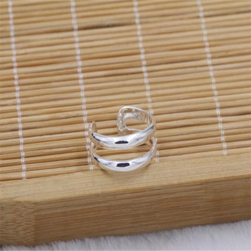 New Fashion Jewelry Women 925 Silver Double Line Toe Rings Charm Fashion Foot Rings European Toe