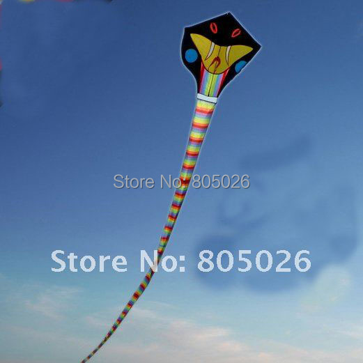free shipping high quality 30m long snake kite cobra kite fast service with handle line weifang kite software parachute paper(China (Mainland))
