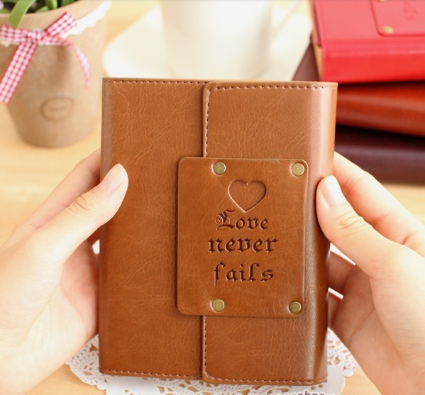 Retro Vintage Leather Cover Small Notepad Notebook Diary Book Stationary M24(China (Mainland))