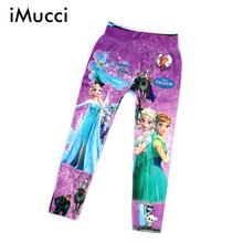5-10 Y Girls Cartoon Print Leggings Girl Pantyhose Children Floral Underpants Kids Pants Printing Flower Legging