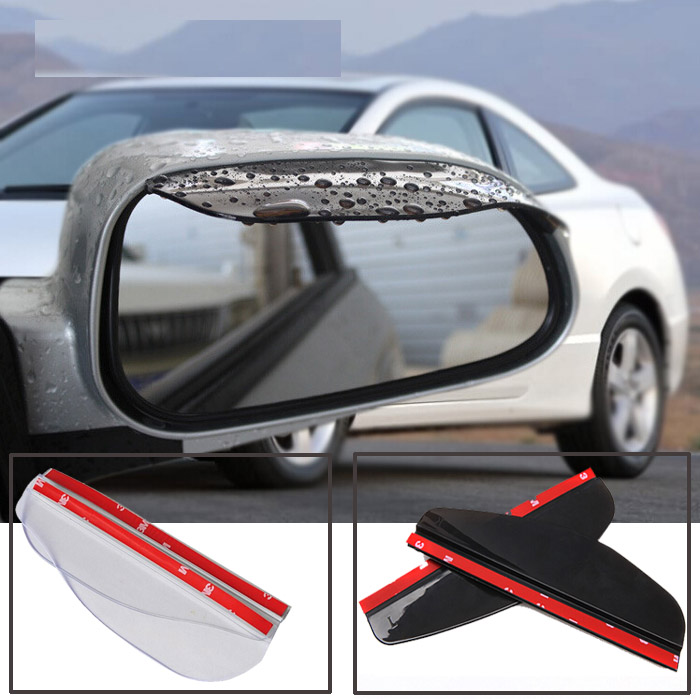 Accessories 2X Car Door Side Rear View Wing Mirror Rain Visor Board Snow Guard Weather Shield Sun Shade Cover Rearview Universal(China (Mainland))