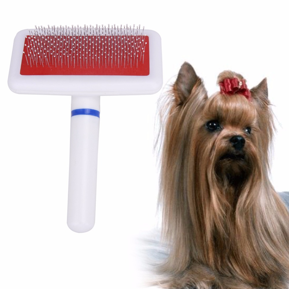 Practical Pet Dog Needle Comb for Dog Cat Gilling Brush Dog Rake Comb Quick Cleaning Brush Pet Grooming Tool(China (Mainland))