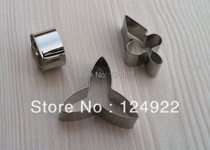 Cake Decorating Tools,3pcs/set Stainless Steel Moth Orchid Candy Biscuit Jelly Fondant Cookie Cutters - mo&mo's store