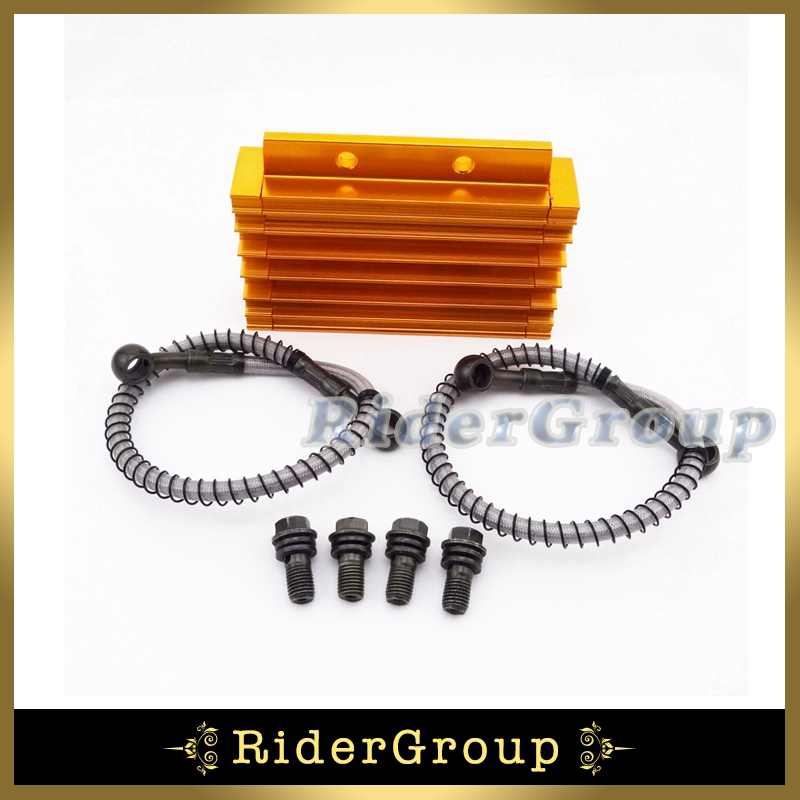 Oil Cooler Gold CNC Aluminum For Chinese Pit Dirt Bike Motorcycle Lifan BSE Kayo CRF50 Thumpstar 125cc 140cc 150cc(China (Mainland))