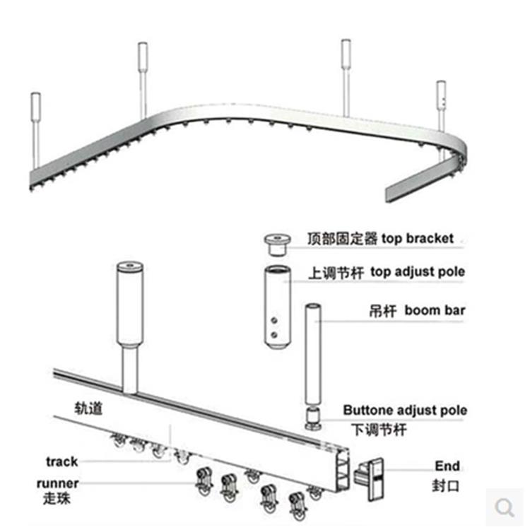 Matching Shower Curtain And Valance Curtain Traverse Rod Slide Rings