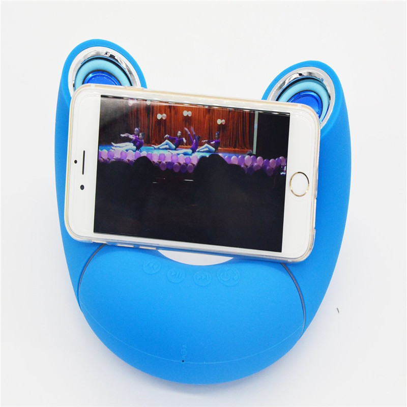 Unique 180 Degree Rotation Stereo Variant Bluetooth Speaker Dual Handsfree Speakerphone TF Card Mini Wireless Portable Speakers(China (Mainland))