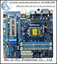 Free shipping  original motherboard for Gigabyte GA-H55M-UD2H  H55M-UD2H DDR3  LGA 1156  free shipping(China (Mainland))