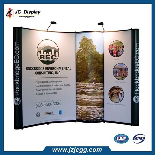 10ft Straight Shape Tension Fabric Vertical Pop Up Banner Display(China (Mainland))