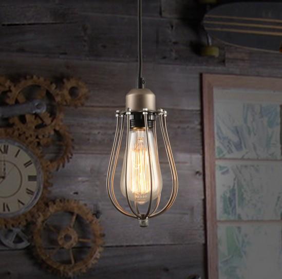Loft Style Iron Art Droplight Edison Industrial Vintage Pendant Light Fixtures For Dining Room Hanging Lamp Indoor Lighting<br><br>Aliexpress
