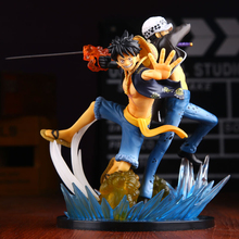Anime one piece figure Luffy Law 5th anniversery action figure 16cm Luffy Trafalgar Law figurine Acetoys juguetes model doll hot