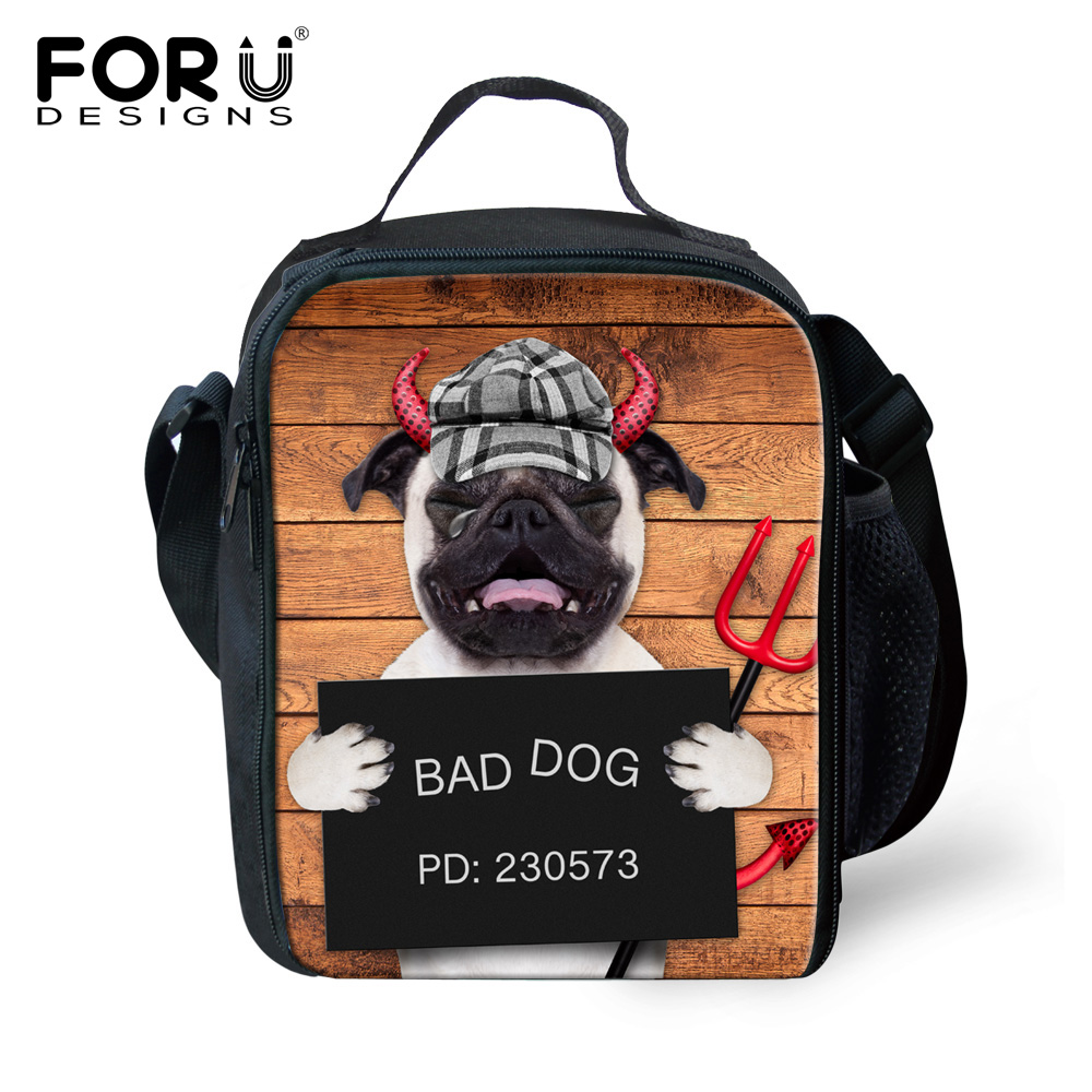 2016 Funny Bad Dog Thermal Insulated Lunch Bag for Women Men Boys Girls Insulation Lunch Box Outdoor Picnic Food Cooler Lunchbox(China (Mainland))