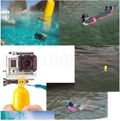 2 in1 GoPro Hero3 3+ Yellow Diving Housing Filters + Camera Mount Handheld Grip Float Stick Monopod SJ4000 + Exempt postage