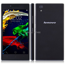 Original lenovo P70t P70-t Mobile Phone MTK6732 quad core 5.0 inch IPS HD screen 1GB RAM 8GB ROM Android 4.4 GSM 4000mAh Battery