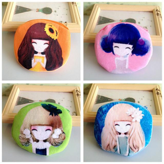 Мода лолита портмоне женщины милый мультфильм плюшевые конфеты красивая девушка принцесса ...