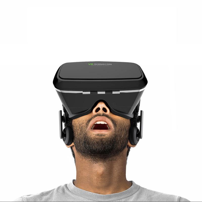 ถูก ที่ถูกที่สุดVR Shineconความจริงเสมือนแว่นตา3DของG Oogleกระดาษแข็งชุดหูฟังO Culus riftหัวหน้าเมาภาพยนตร์สำหรับ3.5-6.0 'มาร์ทโฟน