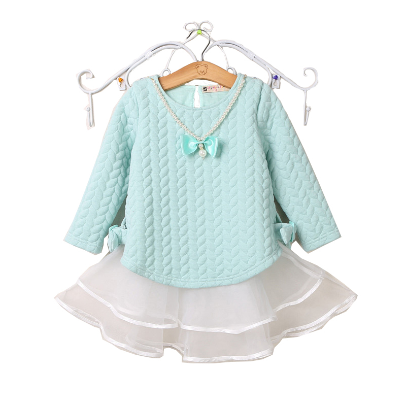 Гаджет  Baby Girl Dress 2015Summer autumn Long sleeve Organza Baby Girl Clothes Princess Children Dresses kids Clothes vestidos infantis None Детские товары