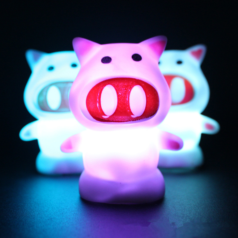 Pig Shaped LED Novelty Pig Lamp Night Light Colorful Changing Colors light projector cartoon lamp Home Decoration(China (Mainland))